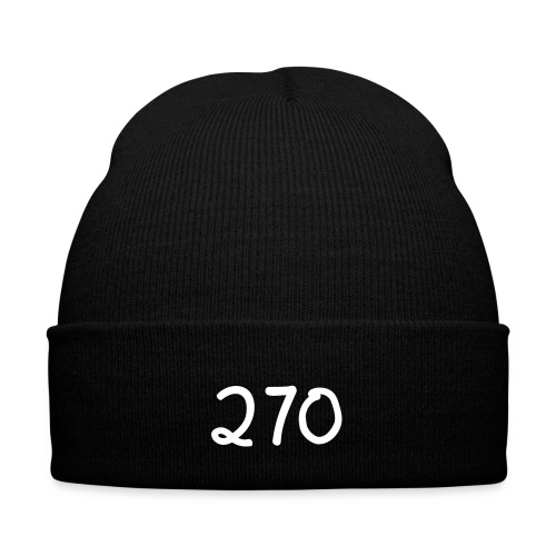 270 Montage fold beanie - Knit Cap with Cuff Print