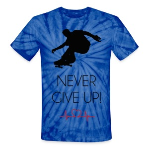 Tie Dye HeartBeat Never Give Up! Tee - Unisex Tie Dye T-Shirt