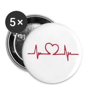 HeartBeat Logo Pins - Small Buttons