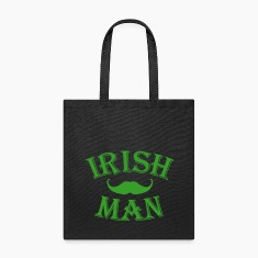 irish man / irish man mustache Bags & backpacks