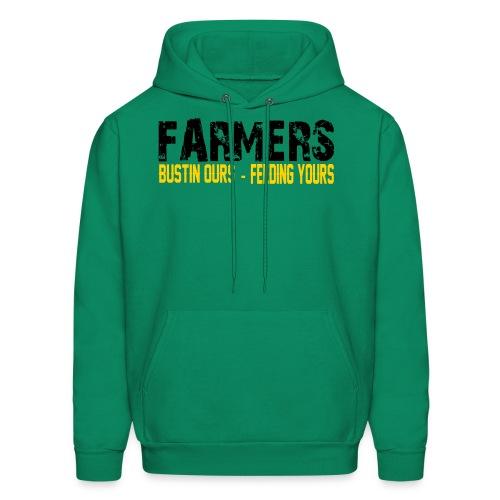 Farmers- Bustin Ours - Feeding Yours Mens Hoodie - Men's Hoodie