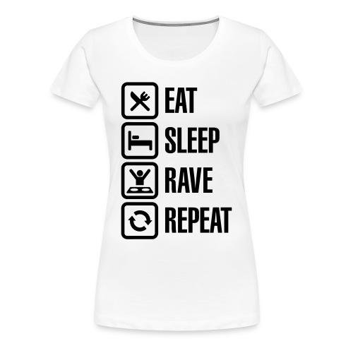 Ravepsycho T - Shirt (Limited Edition) (Womens Shirt #4) - Women's Premium T-Shirt