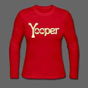 Yooper Irish Shamrocks - Women's Long Sleeve Jersey T-Shirt