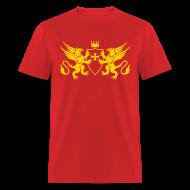 T-Shirts ~ Men's T-Shirt ~ Knights Templars Crusaders Griffons weapon shield men's Tee
