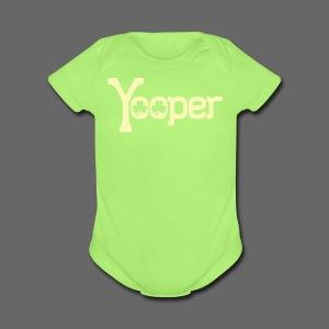 Yooper Irish Shamrocks - Short Sleeve Baby Bodysuit