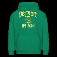 Hoodies ~ Men's Hoodie ~ Detroit Irish With A D