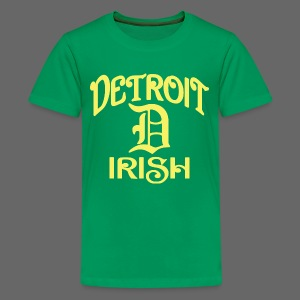 Detroit Irish With A D - Kids' Premium T-Shirt