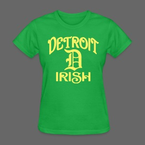 Detroit Irish With A D - Women's T-Shirt