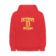 Sweatshirts ~ Kids' Hoodie ~ Detroit Irish With A D
