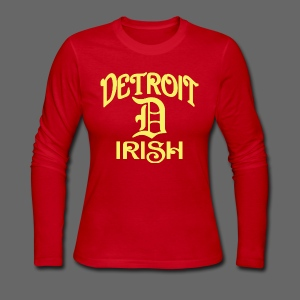 Detroit Irish With A D - Women's Long Sleeve Jersey T-Shirt