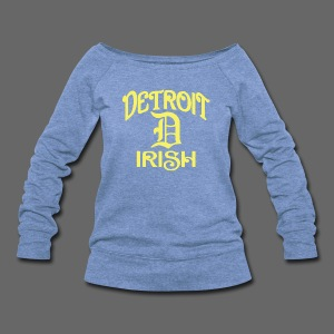 Detroit Irish With A D - Women's Wideneck Sweatshirt
