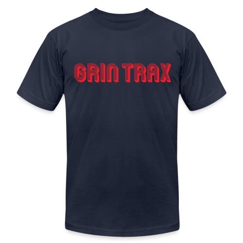 Grin-Trax-Font-Logo-Red - Men's Fine Jersey T-Shirt