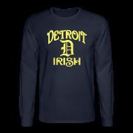 Long Sleeve Shirts ~ Men's Long Sleeve T-Shirt ~ Detroit Irish With A D