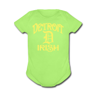 Baby Bodysuits ~ Baby Short Sleeve One Piece ~ Detroit Irish With A D