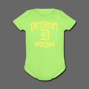 Detroit Irish With A D - Short Sleeve Baby Bodysuit