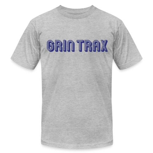 Grint-Trax-Logo-Blue - Men's T-Shirt by American Apparel