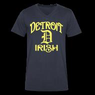 T-Shirts ~ Men's V-Neck T-Shirt by Canvas ~ Detroit Irish With A D