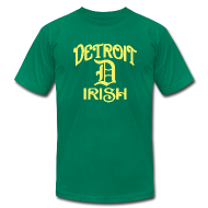 T-Shirts ~ Men's T-Shirt by American Apparel ~ Detroit Irish With A D