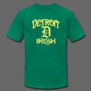 Detroit Irish With A D - Men's T-Shirt by American Apparel