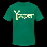 T-Shirts ~ Men's T-Shirt by American Apparel ~ Yooper Irish Shamrocks