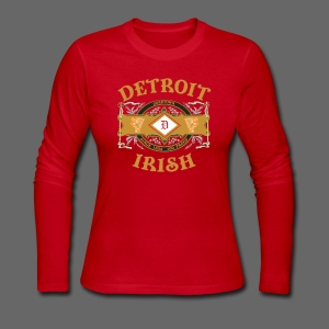 Detroit Irish Label - Women's Long Sleeve Jersey T-Shirt