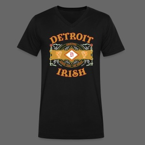 Detroit Irish Label - Men's V-Neck T-Shirt by Canvas