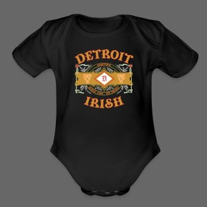 Detroit Irish Label - Short Sleeve Baby Bodysuit