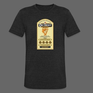 Detroit Irish Whiskey - Unisex Tri-Blend T-Shirt by American Apparel