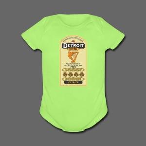 Detroit Irish Whiskey - Short Sleeve Baby Bodysuit