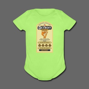 Detroit Irish Whiskey - Short Sleeve Baby Bodysuit