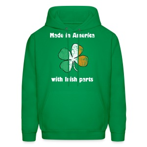 Made in America with Irish parts - Men's Hoodie