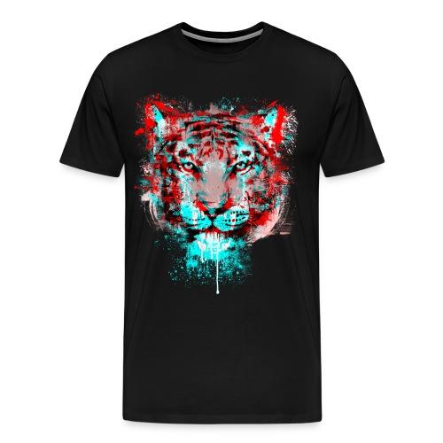 3d tiger - Men's Premium T-Shirt