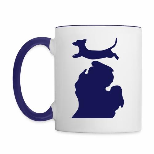 Dachshund mug - Contrast Coffee Mug