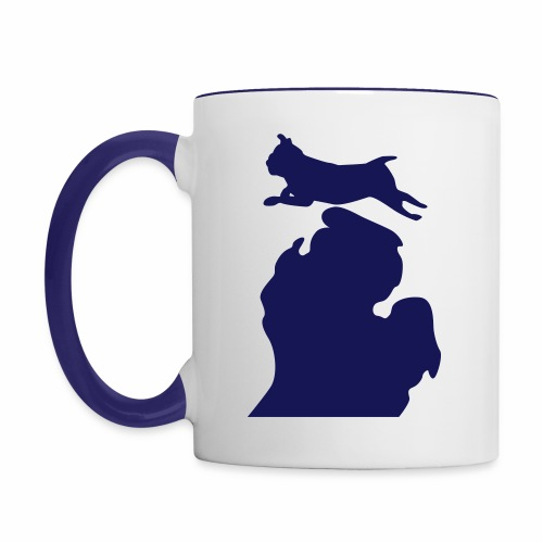 Pug mug - Contrast Coffee Mug