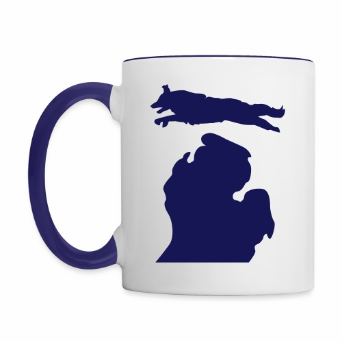 Border Collie mug - Contrast Coffee Mug