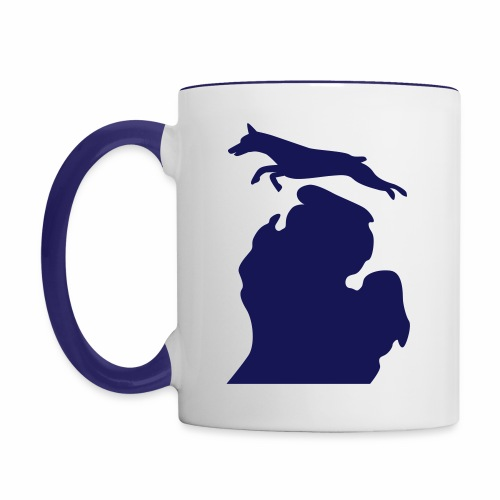 Doberman mug - Contrast Coffee Mug