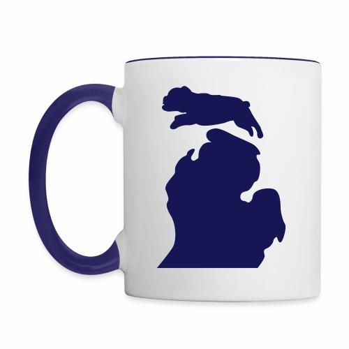 Bulldog mug - Contrast Coffee Mug