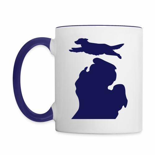 Golden Retriever mug - Contrast Coffee Mug