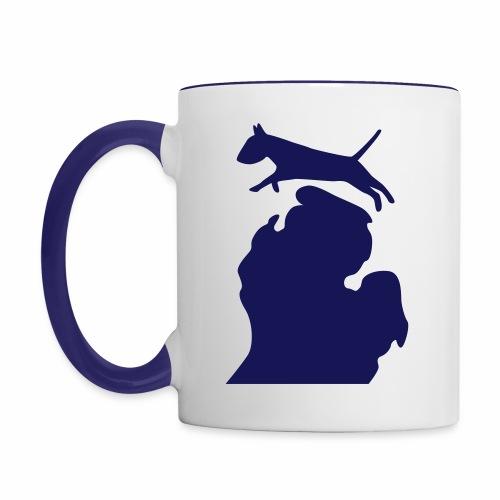 Bull Terrier mug - Contrast Coffee Mug