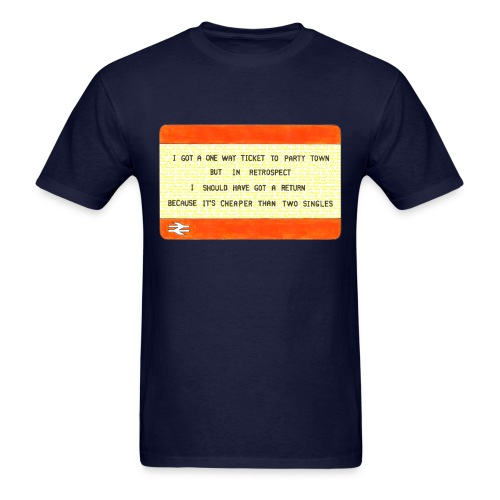 One Way Ticket to Party Town T-shirt - Men's T-Shirt
