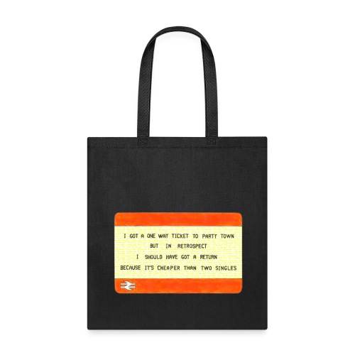 One Way Ticket to Party Town - Tote Bag - Tote Bag