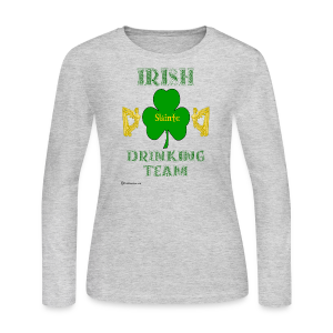 Irish Drinking Team Women's Long Sleeve T-Shirt  - Women's Long Sleeve Jersey T-Shirt