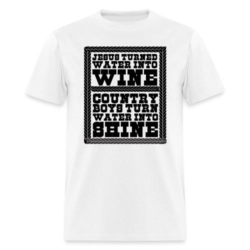 Jesus Water Wine Country Boys Water Shine - Men's T-Shirt