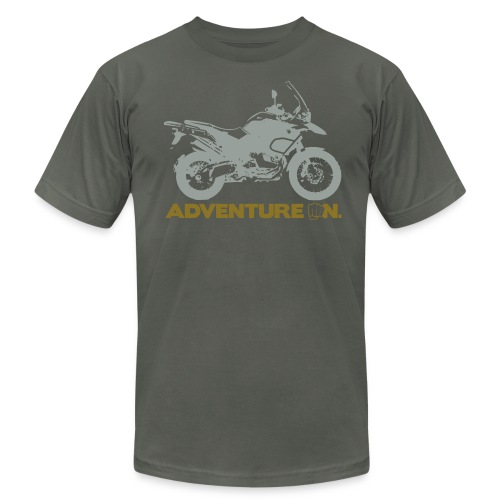GS Adventure On - Logo Front - Men's T-Shirt by American Apparel
