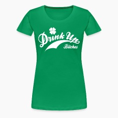 Women's St. Patrick's Day Retro Shirt - Drink Up B