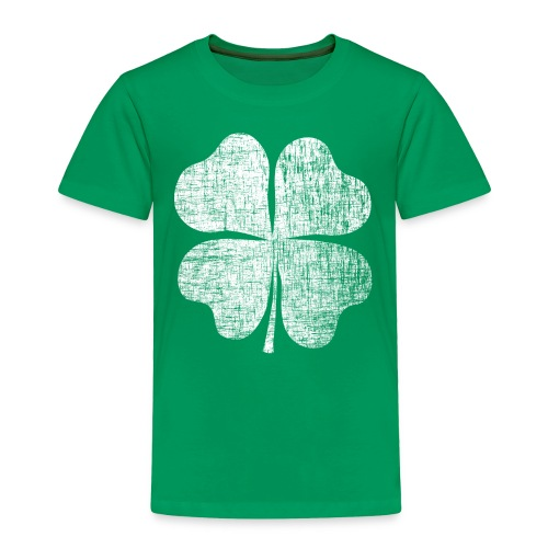 St. Patrick's Day Retro Shamrock Toddler Shirt - Toddler Premium T-Shirt