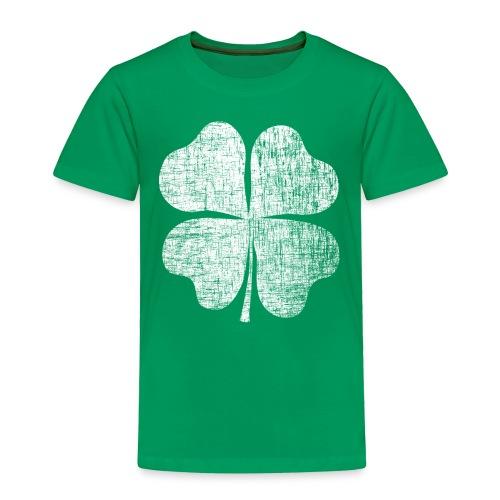 St. Patrick's Day Retro Shamrock Toddler Shirt - Toddler Premium T-Shirt