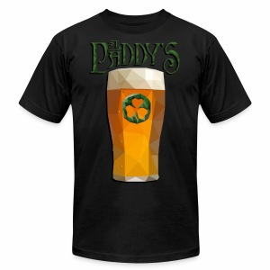 Low-Poly St. Patrick's Day Pint - Men's T-Shirt by American Apparel