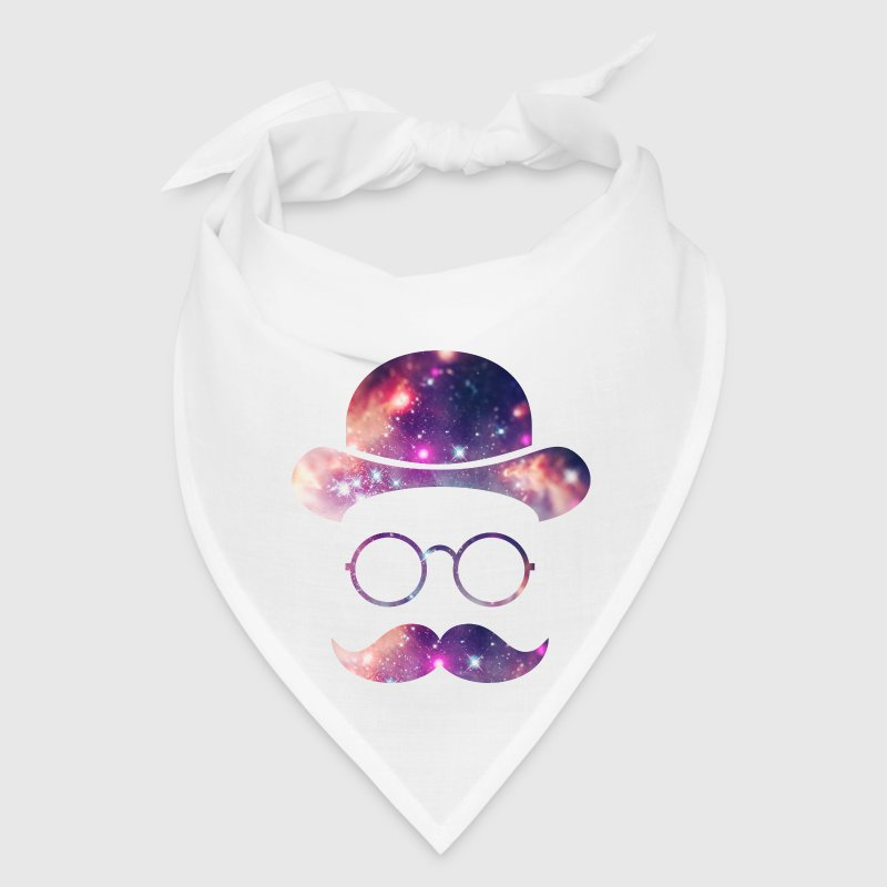 Retro Face with Moustache & Glasses / Universe  Caps - Bandana