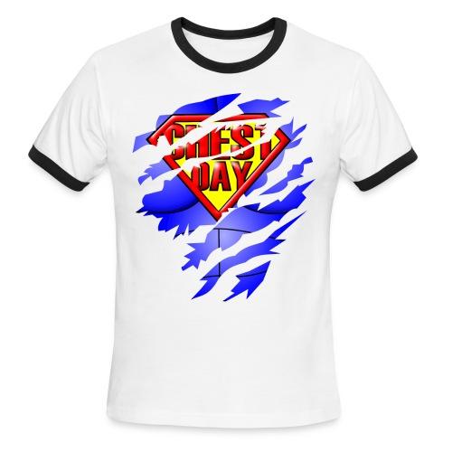 Chest Day Ringer Tee - Men's Ringer T-Shirt
